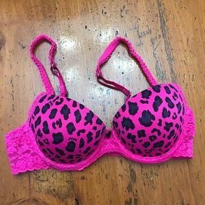 Pink Leopard Pink Bra